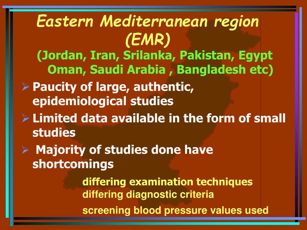 Eastern Mediterranean region (EMR)