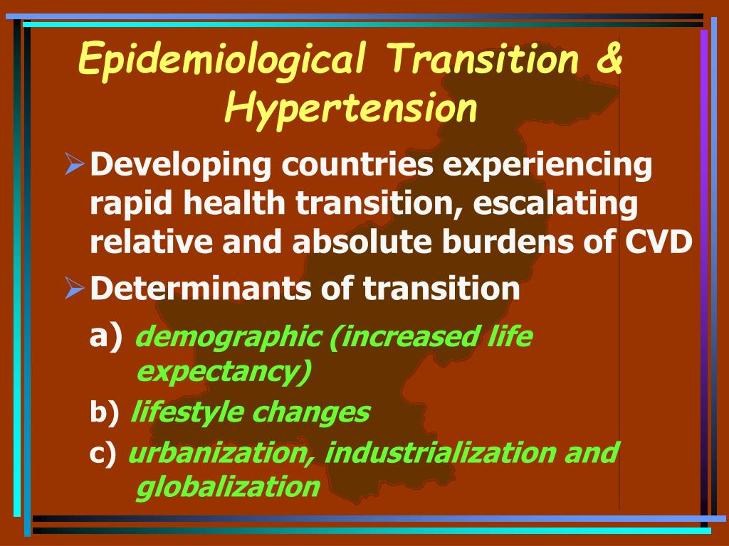 Epidemiological Transition & Hypertension