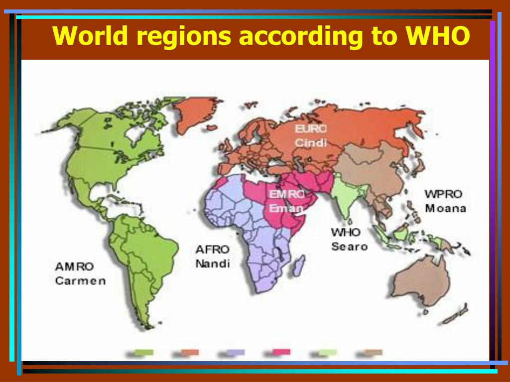 World regions according to WHO