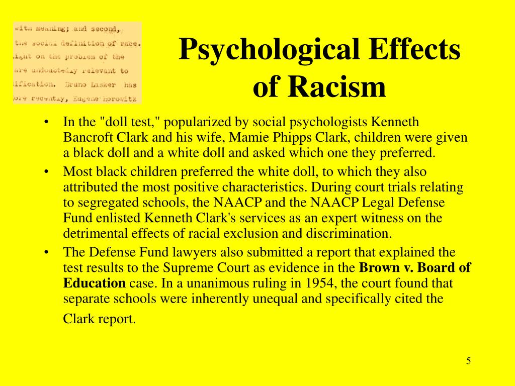 effects of discrimination Race/ethnicity and self-reported levels of discrimination and psychological distress, california  the adverse effects of racial discrimination on.