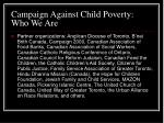 campaign against child poverty who we are