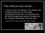 our child poverty record