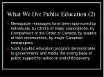 what we do public education 2