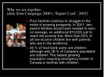 why we are together data from campaign 2000 s report card 20059
