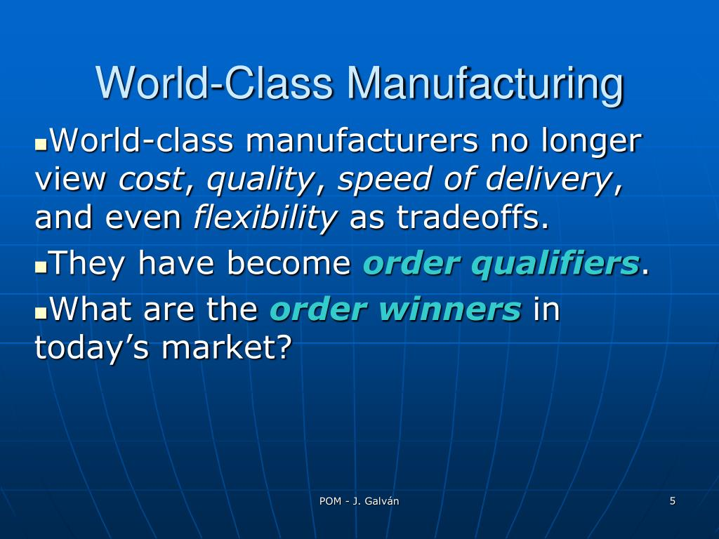 World-Class Manufacturing