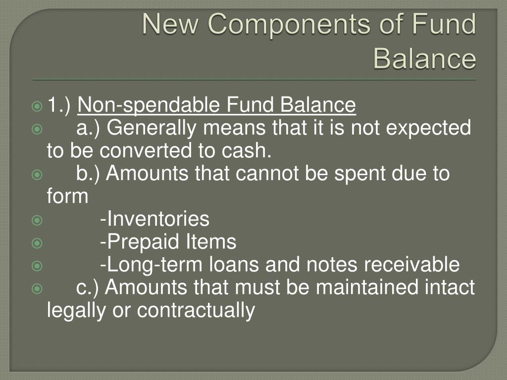 New Components of Fund Balance