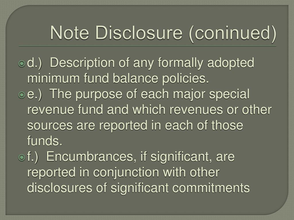 Note Disclosure (