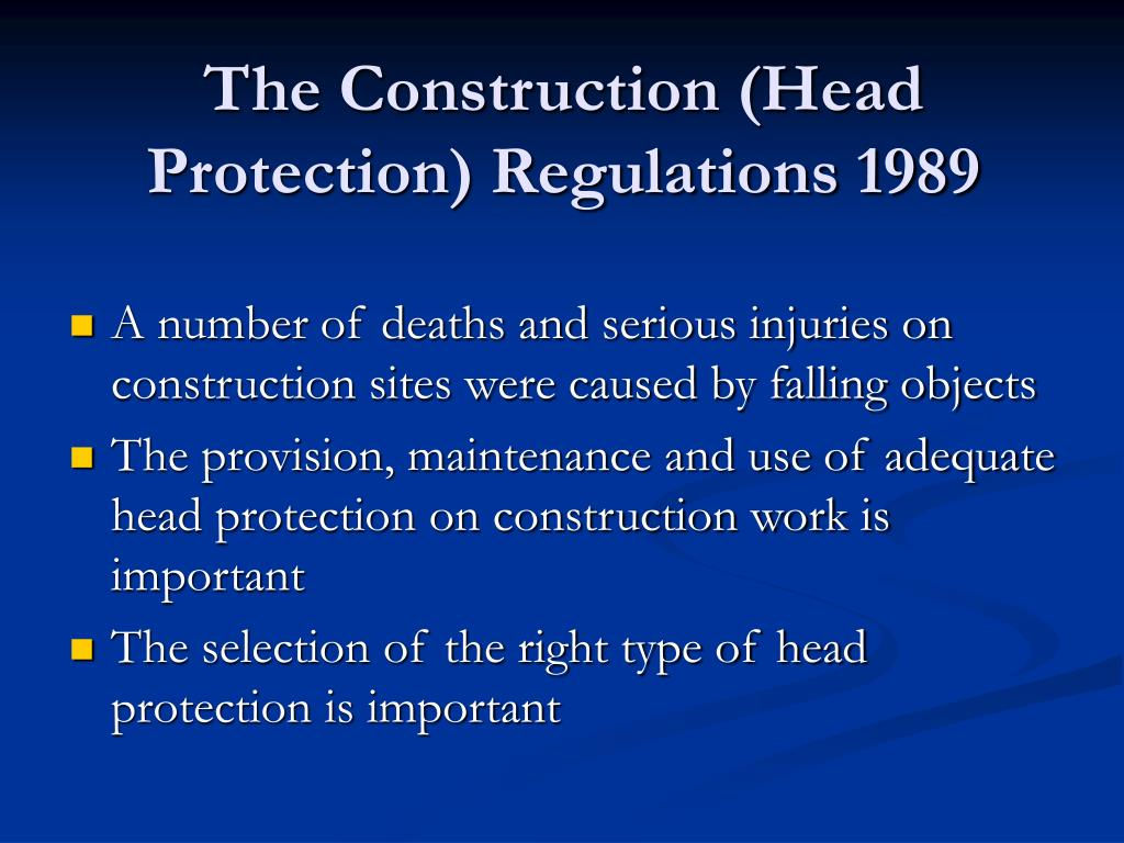 Ppt nebosh powerpoint presentation id 561859 for Construction rules and regulations