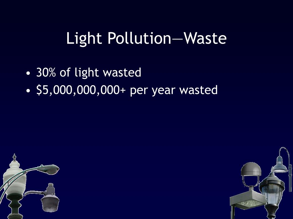 Light Pollution—Waste
