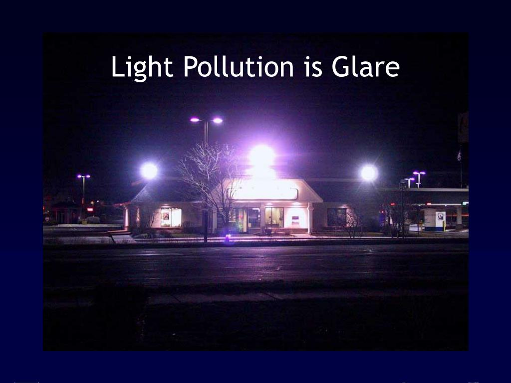 Light Pollution is Glare
