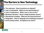 the barriers to new technology