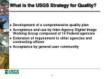 what is the usgs strategy for quality