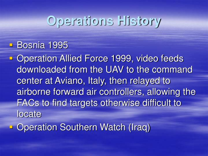 Operations History
