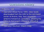operations history