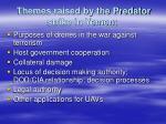 themes raised by the predator strike in yemen