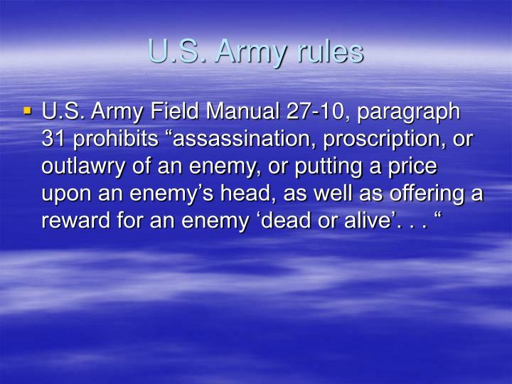 U.S. Army rules