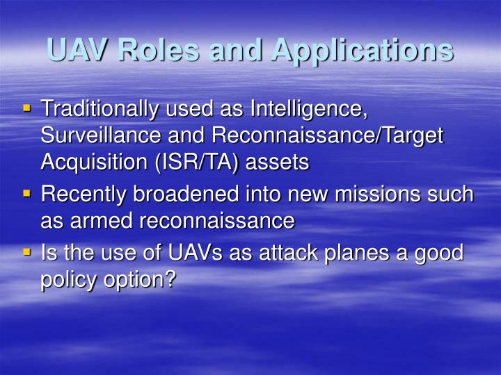 UAV Roles and Applications