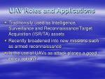 uav roles and applications