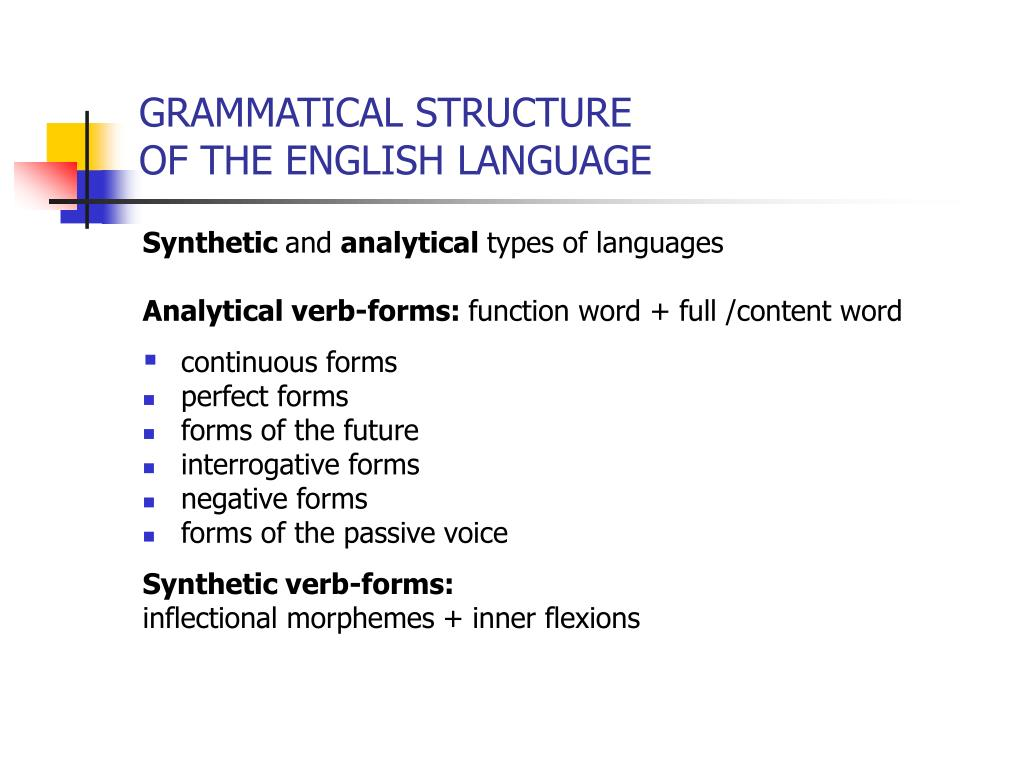 structure of english language pdf