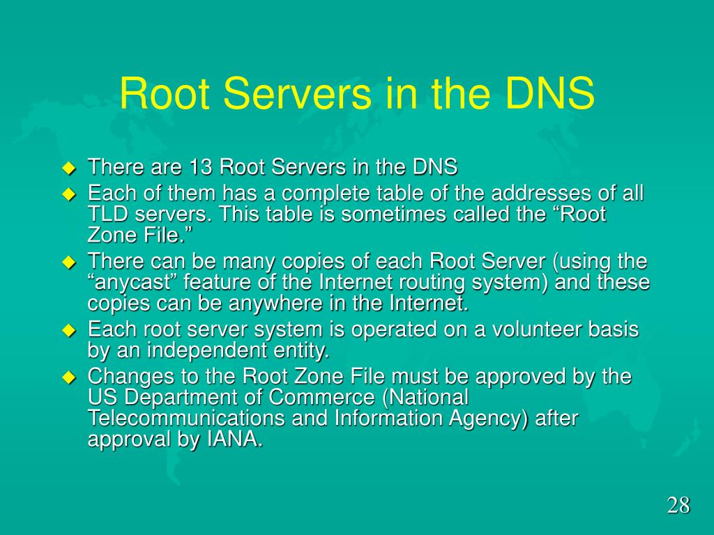 Root Servers in the DNS