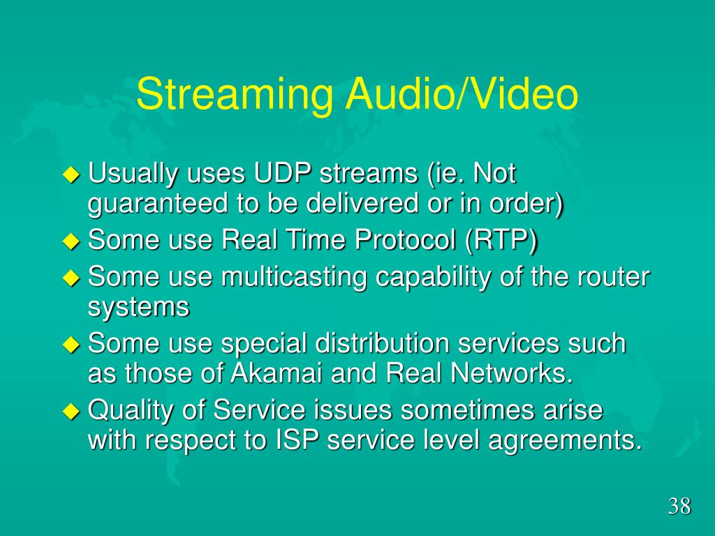 Streaming Audio/Video