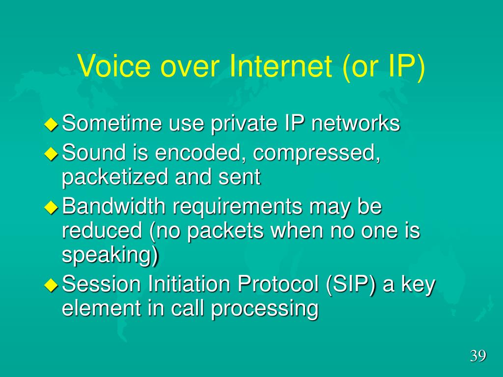 Voice over Internet (or IP)