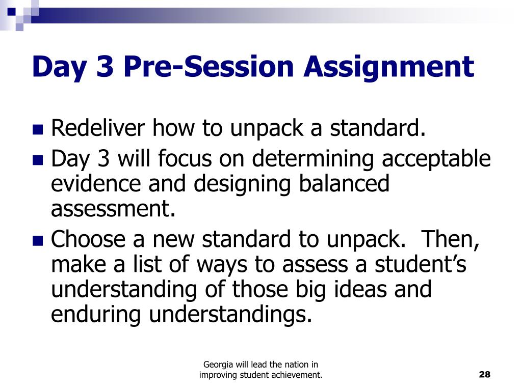 Day 3 Pre-Session Assignment
