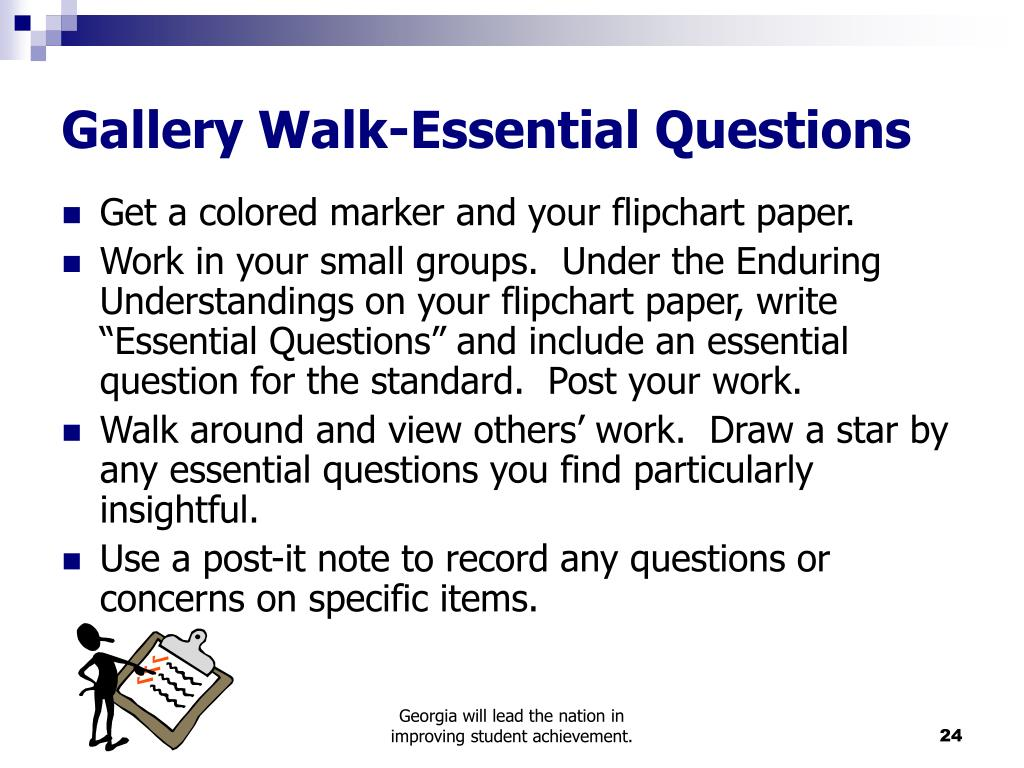 Gallery Walk-Essential Questions