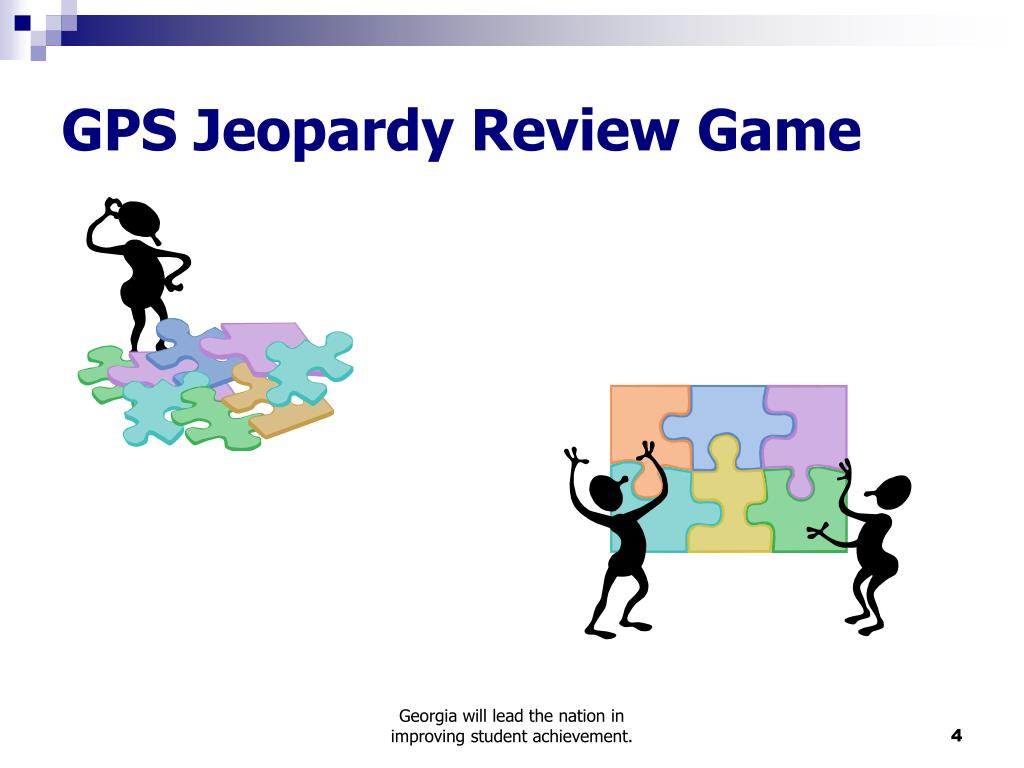 GPS Jeopardy Review Game