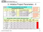3 initialize project parameters ii