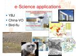 e science applications