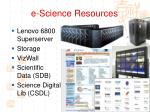 e science resources