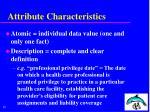 attribute characteristics19