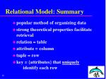 relational model summary