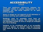 accessibility continued
