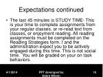expectations continued10