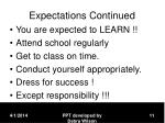 expectations continued11