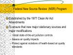 federal new source review nsr program