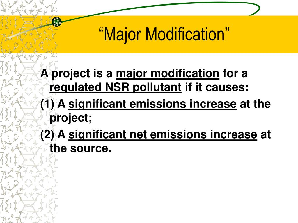 """Major Modification"""