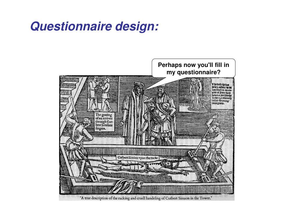 Questionnaire design: