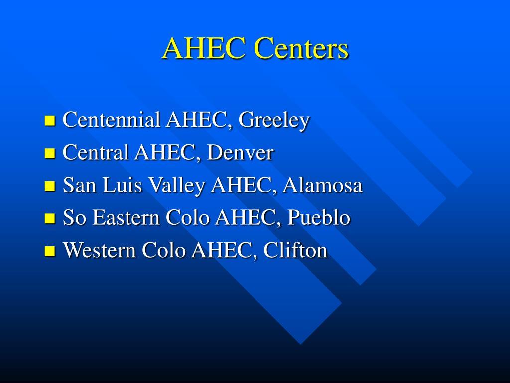 AHEC Centers