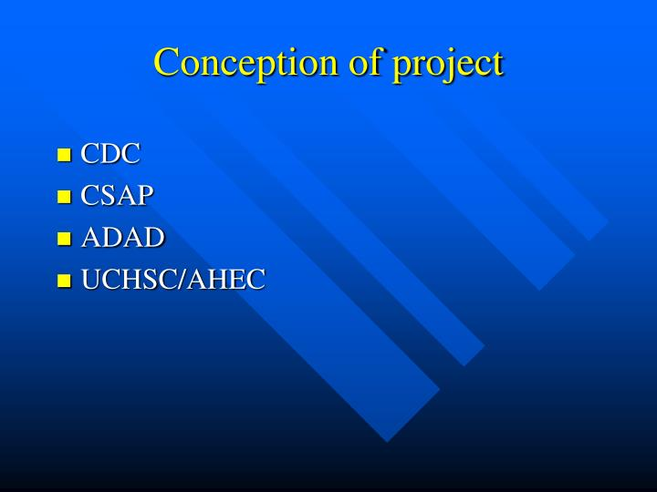 Conception of project