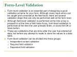 form level validation