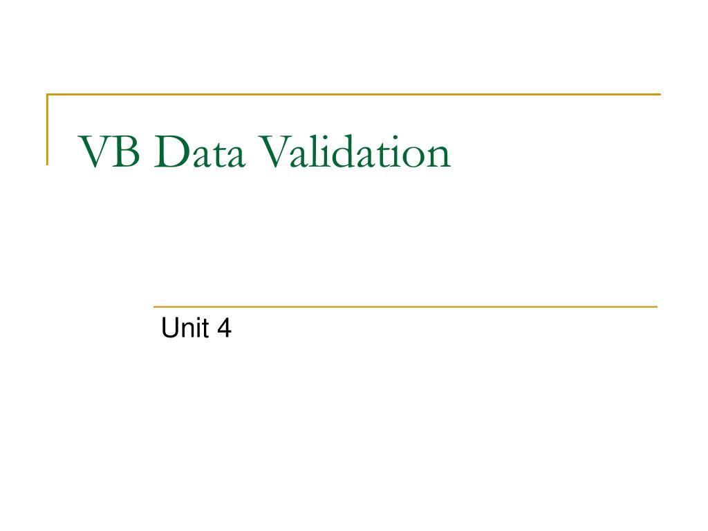 vb data validation