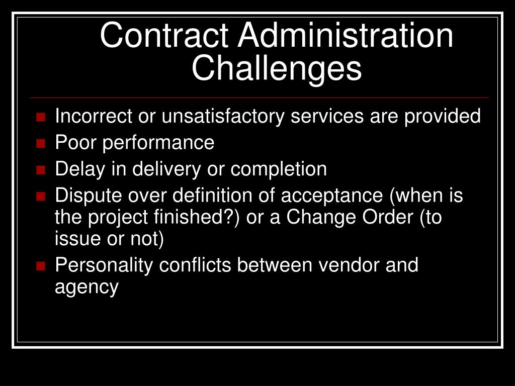 contract management issues National contract management association 21740 beaumeade circle suite 125 ashburn, virginia 20147 local number: 571/382-0082 | toll free: 800/344-8096 | fax: 703/448-0939.