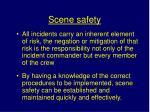 scene safety