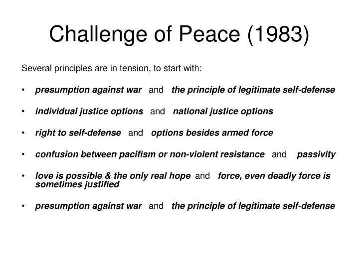 Challenge of peace 1983