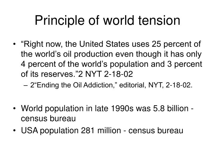 Principle of world tension