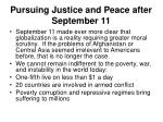 pursuing justice and peace after september 11