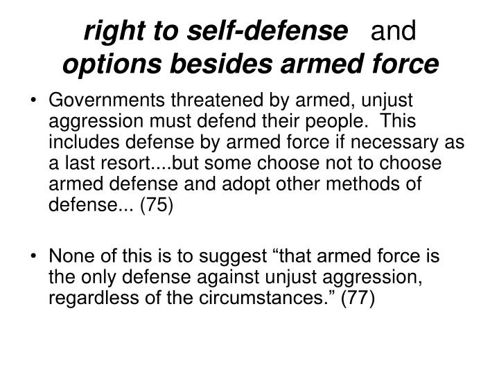 right to self-defense